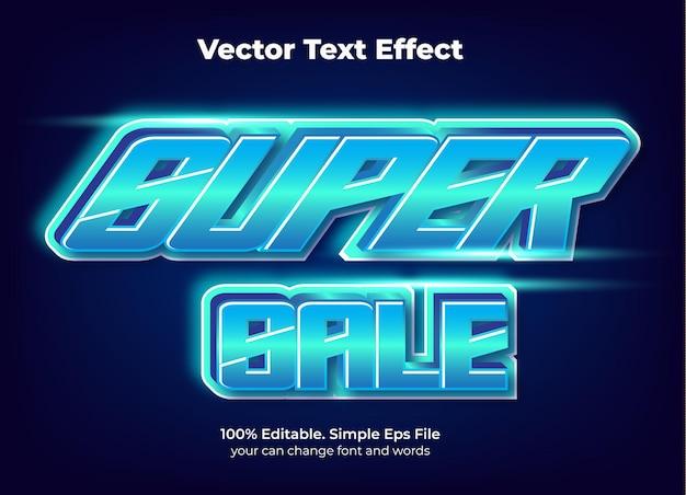 Efeito de texto de promoção de venda em flash editável