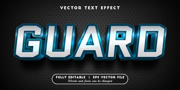 Efeito de texto de proteção com estilo de texto editável