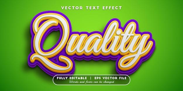 Efeito de texto de qualidade com estilo de texto editável Vetor Premium
