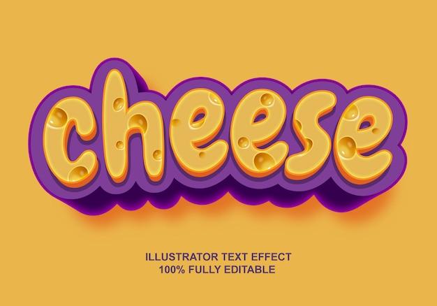 Efeito de texto de queijo