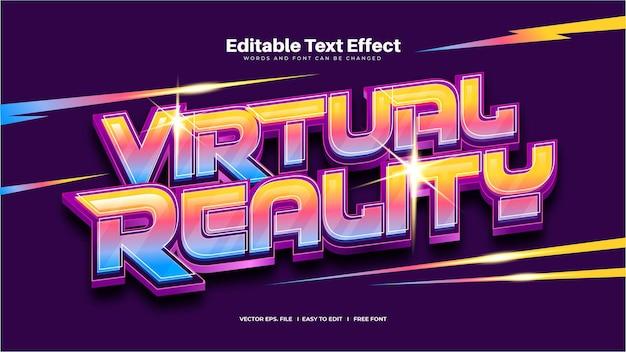 Efeito de texto de realidade virtual