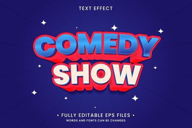 Efeito de texto de show de comédia