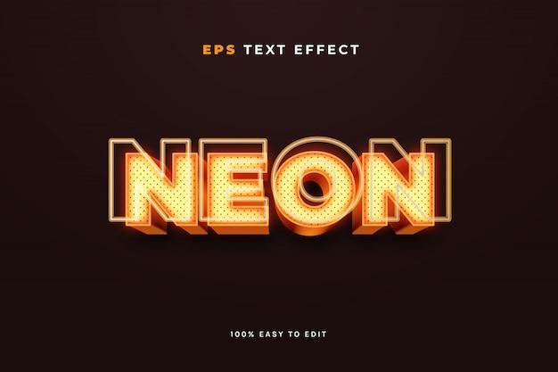 Efeito de texto de sinal de néon 3d