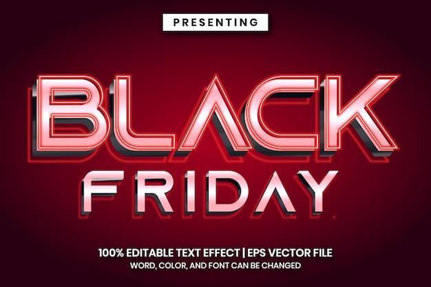 Efeito de texto de sinal de título de sexta-feira negra