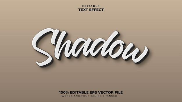 Efeito de texto de sombra