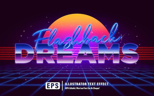 Efeito de texto de sonhos de flashback - editável