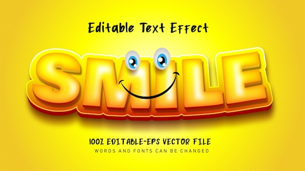 Efeito de texto de sorriso