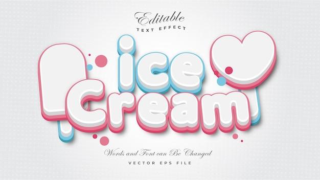 Efeito de texto de sorvete