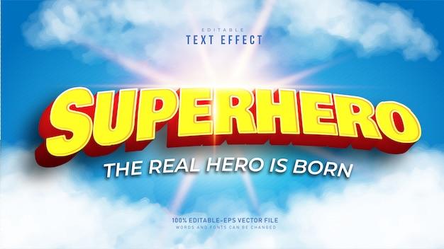 Efeito de texto de super-herói 3d