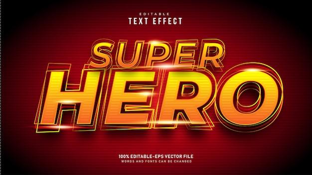 Efeito de texto de super-herói