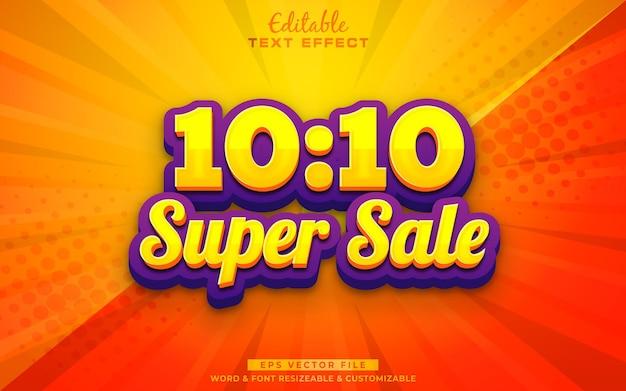 Efeito de texto de super venda 1010