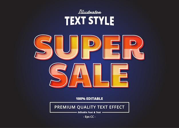 Efeito de texto de super venda