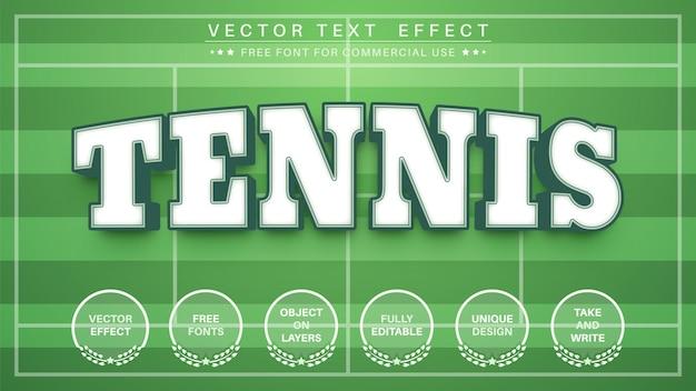 Efeito de texto de tênis esportivo, estilo de fonte