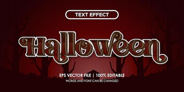 Efeito de texto de terror de halloween editável
