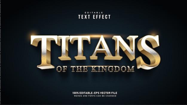 Efeito de texto de titãs dourados