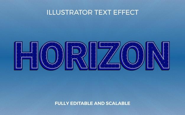 Efeito de texto de título 3d deep blue horizon