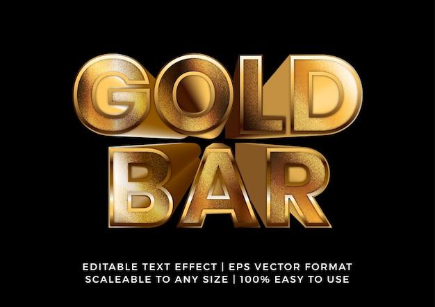 Efeito de texto de título 3d em ouro sólido