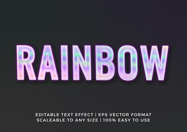 Efeito de texto de título 3d holográfico criativo