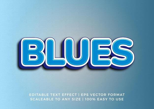 Efeito de texto de título azul 3d em relevo