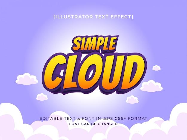 Efeito de texto de título de flutuador simples no conceito de tema colorido