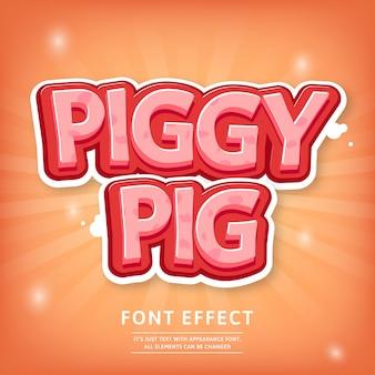 Efeito de texto de título de jogo de estilo cômico de tipo de letra 3d