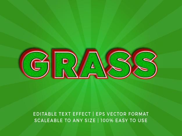 Efeito de texto de título de superfície de grama verde