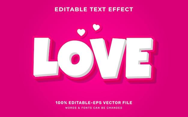 Efeito de texto de um amor