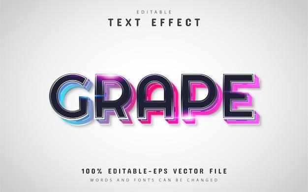 Efeito de texto de uva colorida