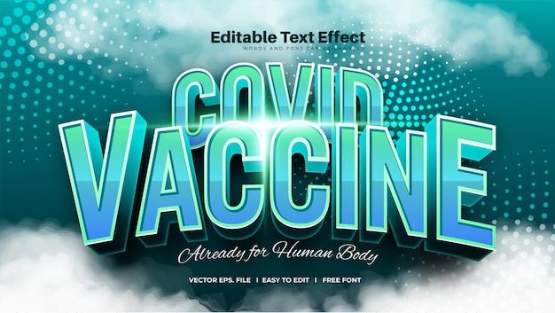 Efeito de texto de vacinas covid em negrito
