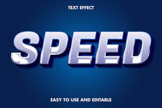 Efeito de texto de velocidade fácil de usar e editável