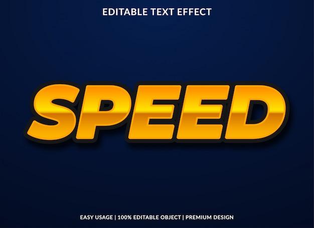 Efeito de texto de velocidade