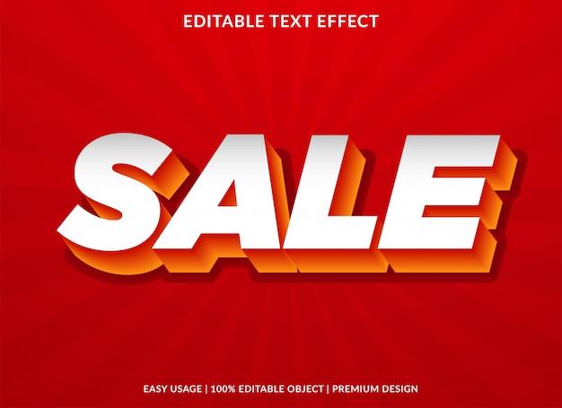 Efeito de texto de venda com estilo 3d em negrito