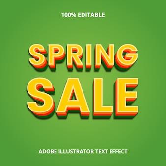 Efeito de texto de venda de primavera premium