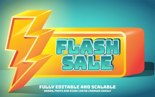 Efeito de texto de venda em flash editável