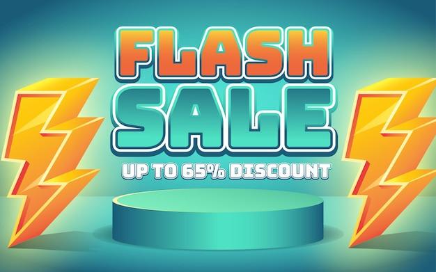 Efeito de texto de venda flash editável