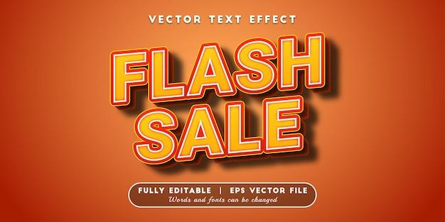 Efeito de texto de venda flash, estilo de texto editável