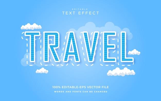 Efeito de texto de viagem