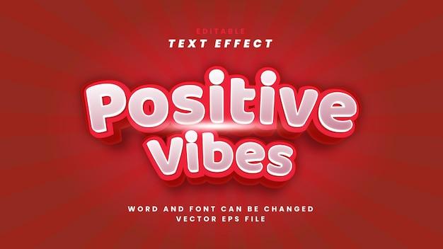 Efeito de texto de vibrações positivas