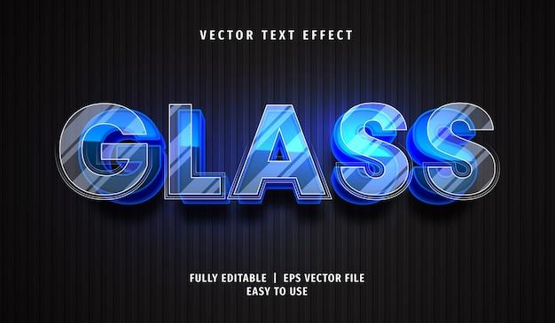 Efeito de texto de vidro 3d, estilo de texto editável
