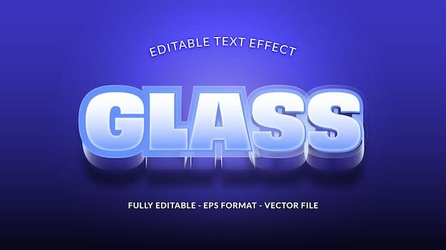 Efeito de texto de vidro editável