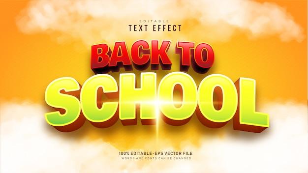 Efeito de texto de volta às aulas
