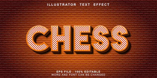Efeito de texto de xadrez editável