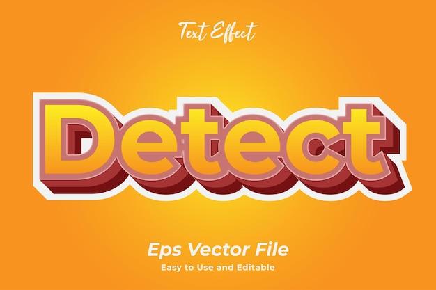 Efeito de texto detectar vetor premium editável e fácil de usar
