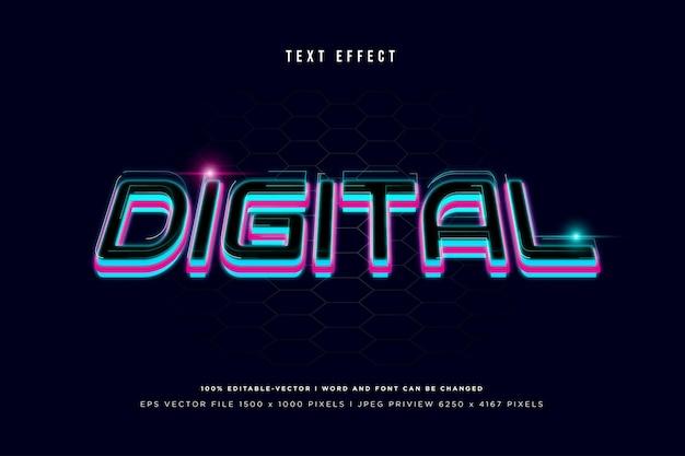 Efeito de texto digital 3d em fundo marinho