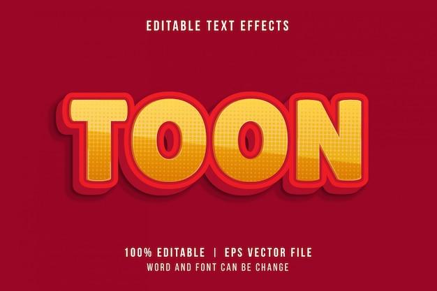 Efeito de texto divertido estilo de jogo com a palavra toon