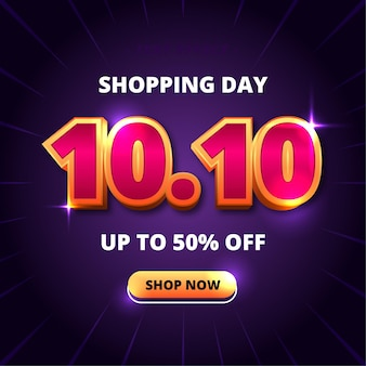 Efeito de texto do banner do dia de compras