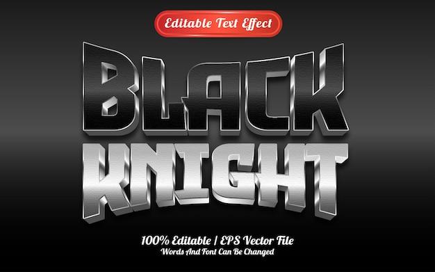 Efeito de texto do cavaleiro negro