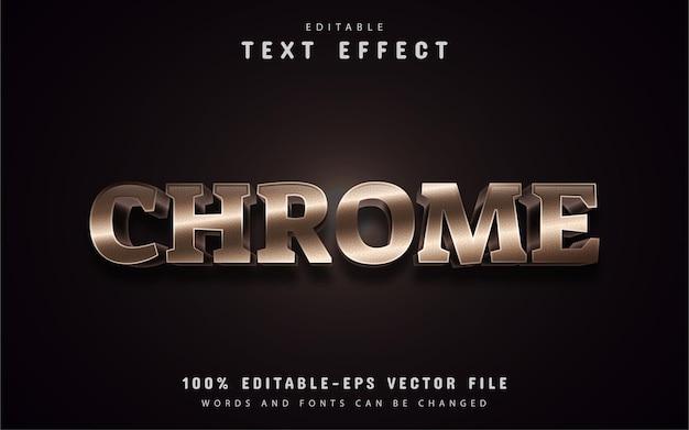 Efeito de texto do chrome editável