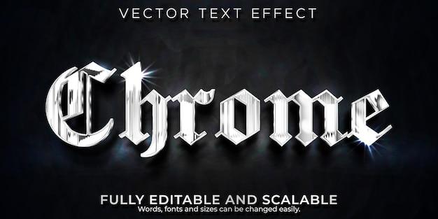 Efeito de texto do cromo