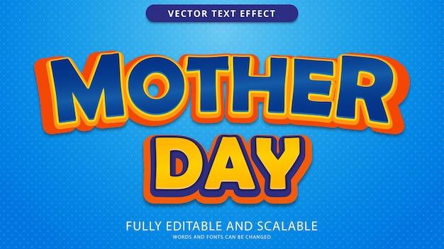 Efeito de texto do dia das mães editável